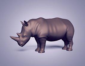Rhinoceros Statue - Base Mesh 3D model VR / AR ready