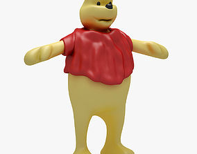 3D asset game-ready Winnie The Pooh RIGGED T POSE