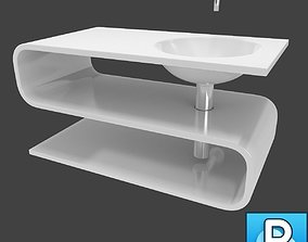 3D Sink and faucet bowl