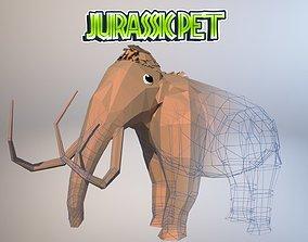 3D asset animated Mammoth