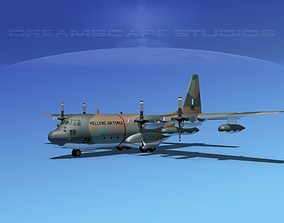 Lockheed C-130 Hercules Greece 3D model