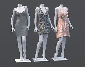 people Mannequin Woman Cloth Model For Shop Vol4 3D