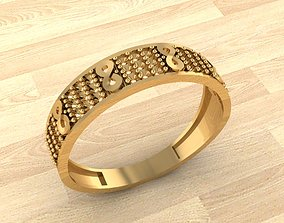 fashion-ring 3D printable model Ring 68
