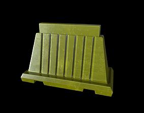 Construction Barricade - Game Ready PBR 3D asset