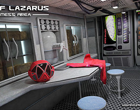 USNF Lazarus Spaceship with full Interior 3D model