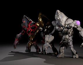 Golem 3D asset animated