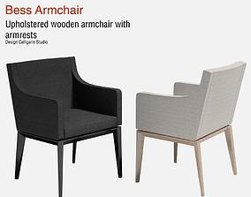 Bess Armchair Fabric 3D