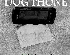 3D print model Dog phone