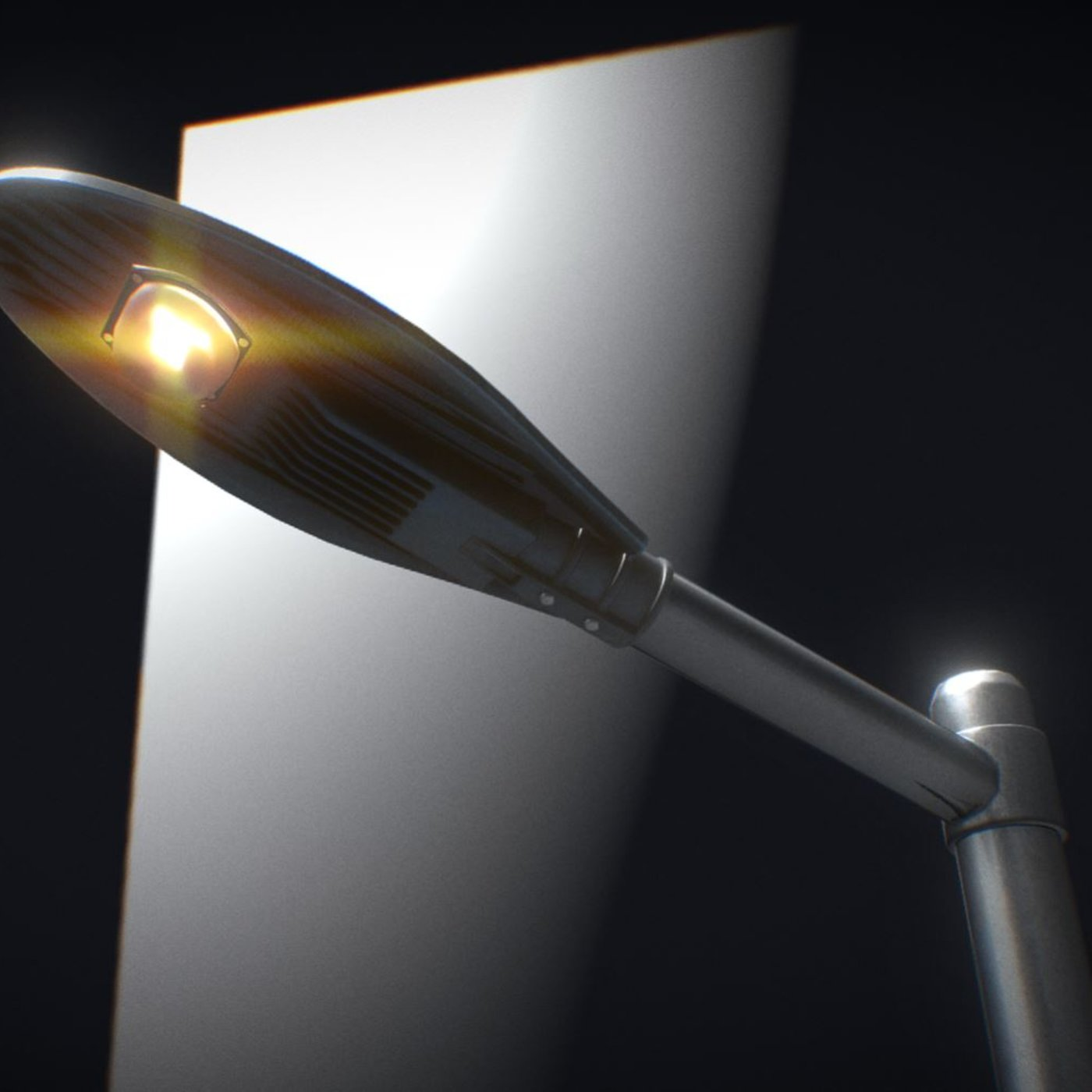 Sci-Fi Street Light 14 version 6 (5m) with pole 3 Blender-2.90.1