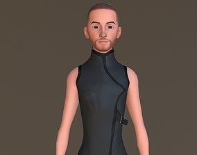 Cyber Dude 3D asset