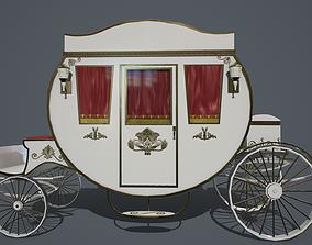 3D asset realtime Antique carriage PBR