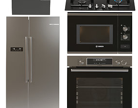 3D model BOSCH kitchen appliances set 4