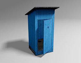 3D asset Blue WC