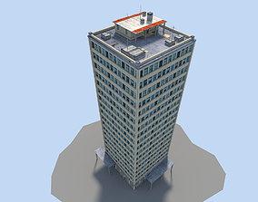 3D model low poly skyscraper