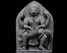 3D asset Hiranyakashipu with 3 LOD - Nepal Heritage