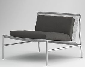 Grey Modern Lounge-Chair 3D