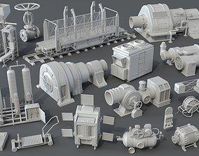 Factory Units 4 - 20 pieces 3D model