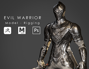 3D model Evil Warrior - Ready to Game