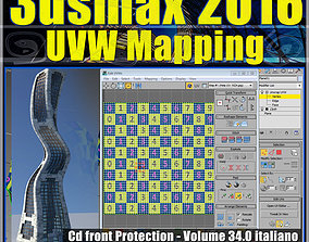 034 3ds max 2016 UVW Mapping v 34 cd front