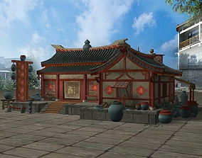 Asian Chinese Medievel Tavern Inn 3D model