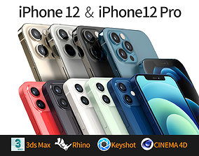 Apple iPhone 12 and 12 pro 3D model