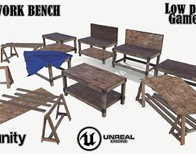 Old work bench 3D asset