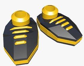 Yellow Cartoon Shoes 3D model