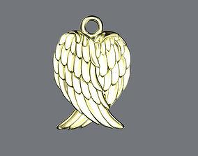 Angel wings pendant 3D print model