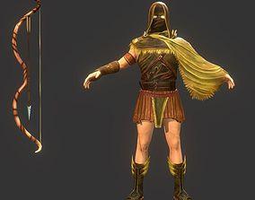 Archer 3D asset game-ready