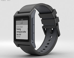 Pebble 2 Black 3D