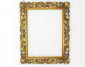 ornate carved frame 3D