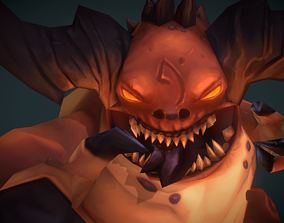 3D model Demon Fatty - Low Poly Hand Painted