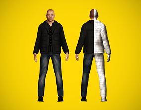 Civilian character 3D asset