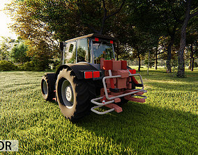 VR / AR ready Heavy Agriculture Tractor 3D model