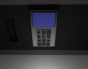 Safe mit Pin-Pad 3D Modell