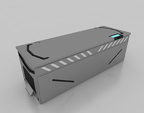 industry SCI FI CRATE MODEL 3DS MAX