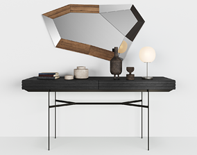 Harri console by MORE - Trixy mirror by OZZIO - 3D model 1