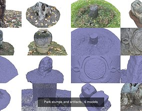 3D model Park stumps and artifacts