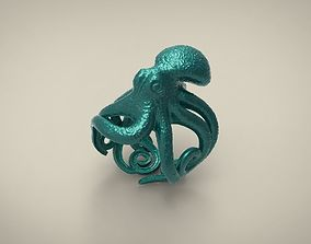 3D printable model ring octopus 2 rings
