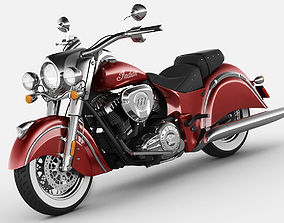 3D Indian Chief Classic motorcycle