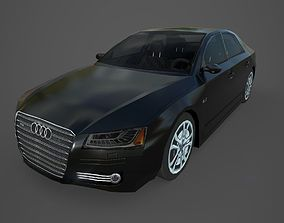 Audi A8 Low Poly Car 3D asset
