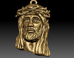 holy 3D printable model Jesus pendant