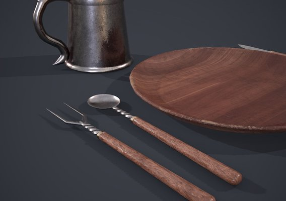 Medieval Simple dish set
