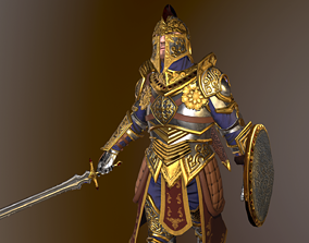 3D asset rigged VR / AR ready Knight