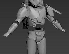 Clone Force 99 Crosshair Full Armor 3D print ready STL