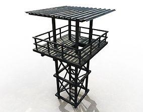 3D model VR / AR ready Watchtower