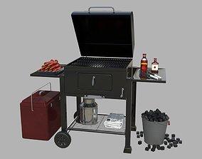 3D model grill set