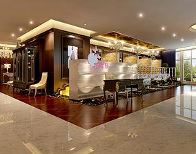 3D European restaurant European sofa decoration cabinet