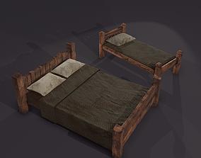 Medieval Beds Set 3D model
