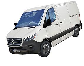 Mercedes Benz Sprinter 2019 panel van low poly realtime